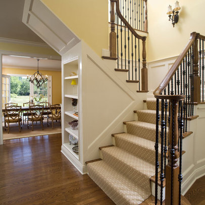 Wall decor ideas stairway on wrought iron railings oak handrail and