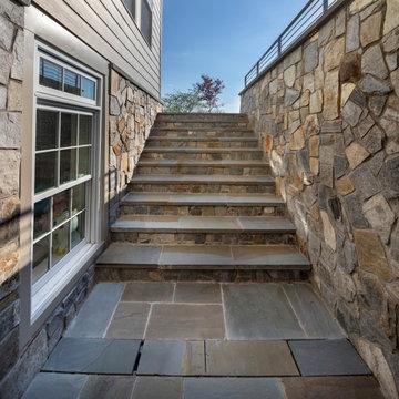 Elegant stone patio