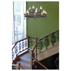 Rustic Staircase by Littman Bros Lighting