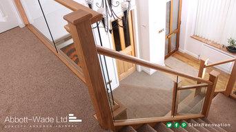 Embedded glass & Oak staircase