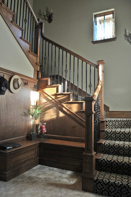 Traditional Staircase by Brent Gibson Classic Home Design