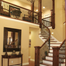 Traditional Staircase by Ronda Divers Interiors, Inc.