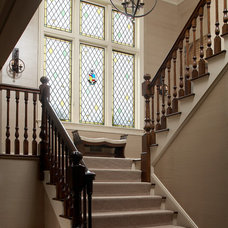 Traditional Staircase by Sandra Oster Interiors