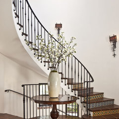 mediterranean entry by Dayna Katlin Interiors