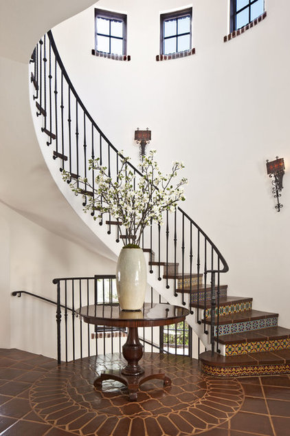 Mediterranean Staircase by Dayna Katlin Interiors