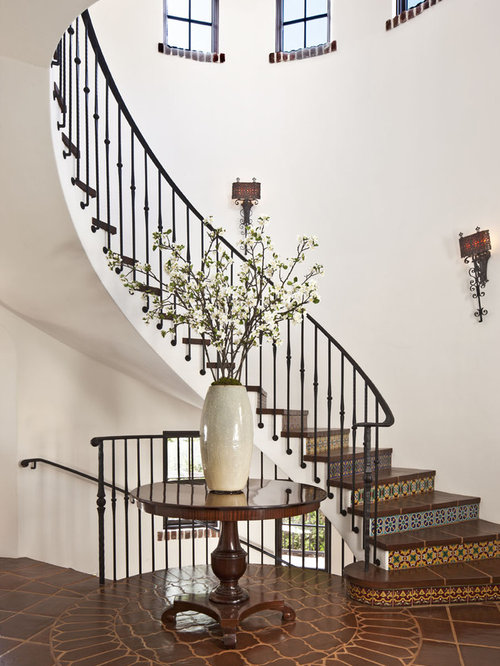 Porcelain Tile Stair Treads And Risers Tile Staircase