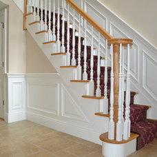 Traditional Staircase by Allendale Design Build, LLC