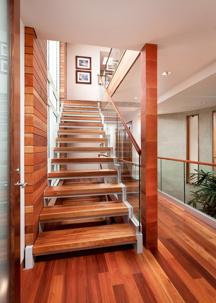 Contemporary Staircase by Lapis Design Partners