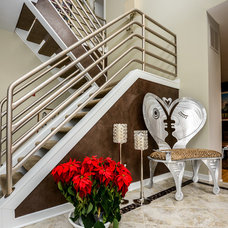Contemporary Staircase by Robin Hiken Interiors