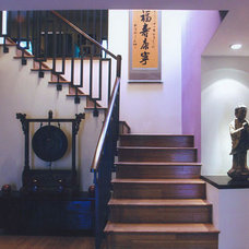 Asian Staircase by Himes Miller Design Inc.