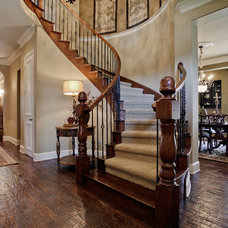 Traditional Staircase by Lori Rourk Interiors Inc.