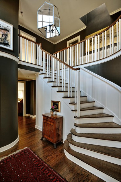 Traditional Staircase by Paula Devon Raso Interior Design