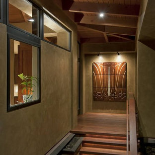 Inspiration for a tropical staircase remodel in Seattle