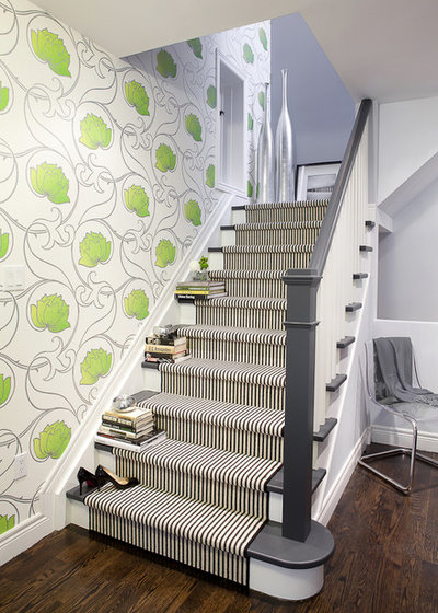 Contemporary Staircase by Leslie Goodwin Photography