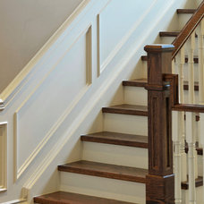 Traditional Staircase by Galle Construction Inc