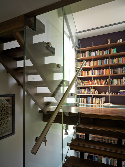 Staircase Bookshelf Houzz