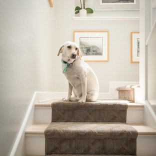 Example of a trendy staircase design in Austin