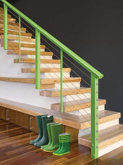 Modern Staircase by Feeney Inc.