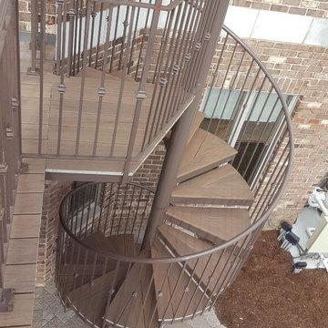 Exterior Spiral Stair