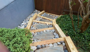 Exterior stairs with underground drainage system.