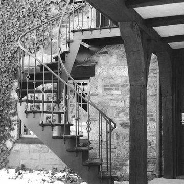 External Steel Spiral Staircase
