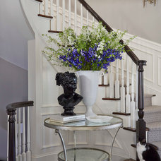 Transitional Staircase by Martha O'Hara Interiors