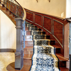 Mediterranean Staircase by Fairmont Homes