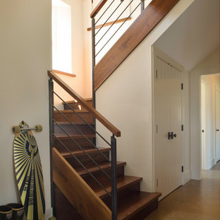 Cool Railing Farmhouse Staircase Photos Houzz Download Free Architecture Designs Embacsunscenecom