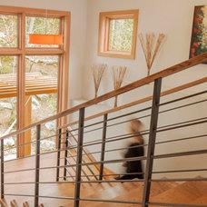 Contemporary Staircase by Alchemy Design Studio