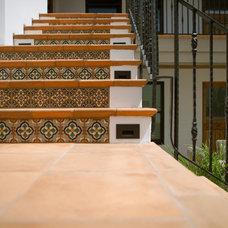 Mediterranean Staircase by Jodi Fleming / Fleming Distinctive Homes