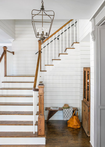 Farmhouse Staircase by Ecraft