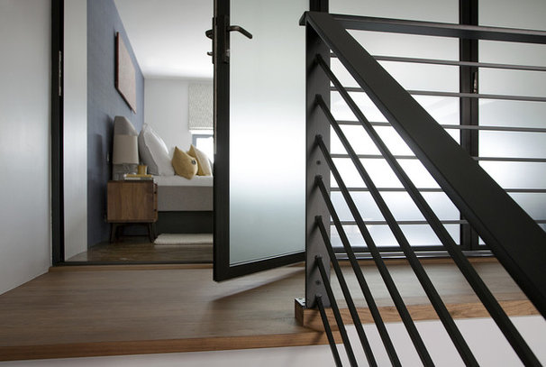Contemporary Staircase by ZeroEnergy Design