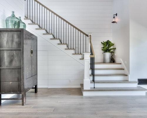 Staircase   Farmhouse Concrete Staircase Idea In Orange County