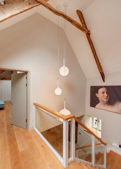Farmhouse Staircase by van Ellen + Sheryn Architects