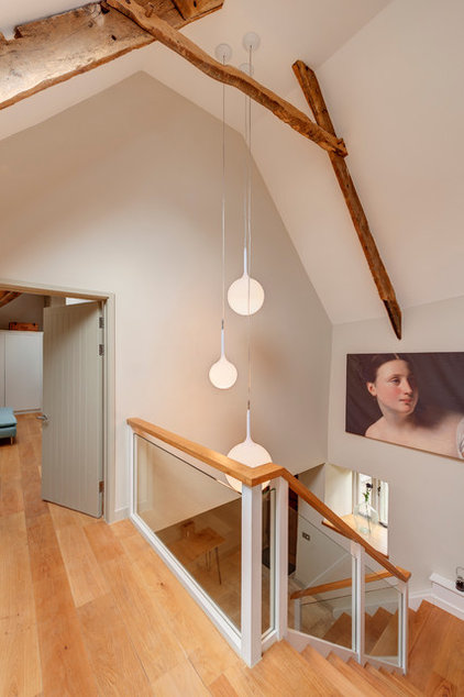 Farmhouse Staircase by van Ellen + Sheryn Architects