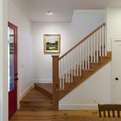 traditional staircase by Rauser Design