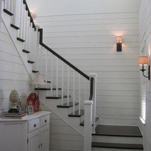 Réalisation d'un escalier champêtre.