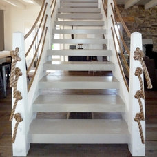 Farmhouse Staircase by Pursley Dixon Architecture