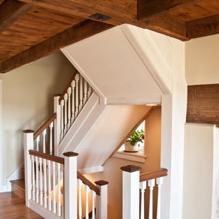 Design ideas for a country staircase in Philadelphia.