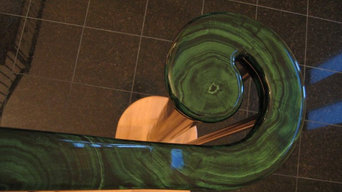 Faux Malachite Handrail