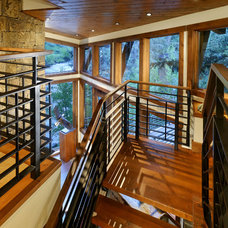 Rustic Staircase by David Johnston Architects