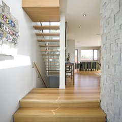 contemporary staircase by jessop  architects