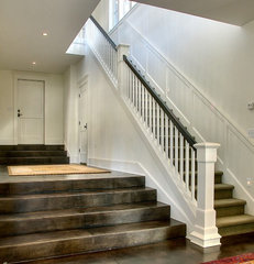 traditional staircase by Christian Gladu Design