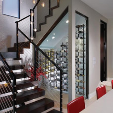Contemporary Staircase by Patterson Custom Homes