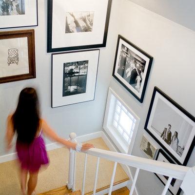Elegant staircase photo in Portland Maine