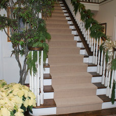 Traditional Staircase Finishing Touches- Junior League of Palo Alto-Mid Peninsula Holiday House Tour