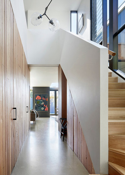 Contemporary Staircase by BENT Architecture