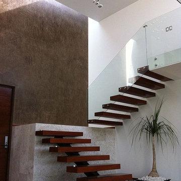 Floating Hardwood Stairs