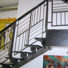 Eclectic Staircase by Capozzoli Metalworks