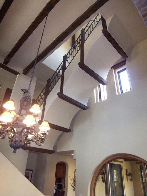 Mediterranean Staircase Tower : Mediterranean floating staircase design ideas remodels